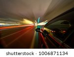 view from side of car moving in ... | Shutterstock . vector #1006871134