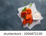 fried crispy chicken nuggets...   Shutterstock . vector #1006872130