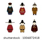 ancient chinese people cartoon  ... | Shutterstock .eps vector #1006872418