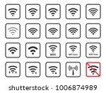 wireless icons set  wifi signs...   Shutterstock .eps vector #1006874989