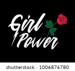 girl power  embroidery fashion... | Shutterstock .eps vector #1006876780