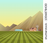 farm and countryside landscape... | Shutterstock .eps vector #1006878430
