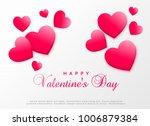 pink hearts background design... | Shutterstock .eps vector #1006879384