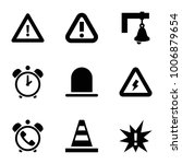 alert icons. set of 9 editable... | Shutterstock .eps vector #1006879654