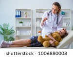 woman female doctor examining...   Shutterstock . vector #1006880008