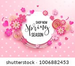 spring season sale offer ... | Shutterstock .eps vector #1006882453