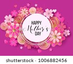 happy mother's day layout... | Shutterstock .eps vector #1006882456
