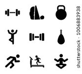 exercise icons. set of 9... | Shutterstock .eps vector #1006883938