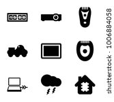 electronic icons. set of 9... | Shutterstock .eps vector #1006884058
