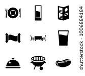 menu icons. set of 9 editable...   Shutterstock .eps vector #1006884184