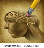 dementia disease and a loss of... | Shutterstock . vector #100688464