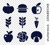 nutrition icons. set of 9... | Shutterstock .eps vector #1006885348