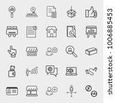 business outline vector icon... | Shutterstock .eps vector #1006885453