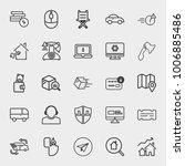 business outline vector icon... | Shutterstock .eps vector #1006885486