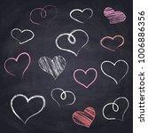 chalk drawn heart. geometric...   Shutterstock .eps vector #1006886356