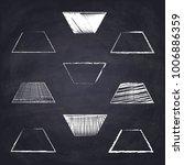 chalk drawn isosceles trapezoid.... | Shutterstock .eps vector #1006886359