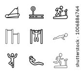 workout icons. set of 9... | Shutterstock .eps vector #1006886764