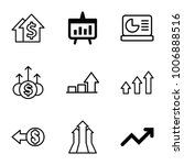 increase icons. set of 9... | Shutterstock .eps vector #1006888516
