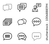 dialog icons. set of 9 editable ... | Shutterstock .eps vector #1006888594