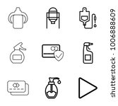 plastic icons. set of 9... | Shutterstock .eps vector #1006888609
