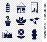 grow icons. set of 9 editable...   Shutterstock .eps vector #1006888708