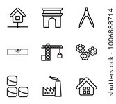 set of 9 editable outline icons ... | Shutterstock .eps vector #1006888714