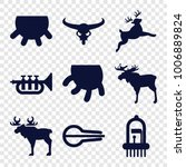 set of 9 editable filled icons...   Shutterstock .eps vector #1006889824