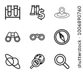 discovery icons. set of 9... | Shutterstock .eps vector #1006890760