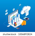 isometric digital information... | Shutterstock .eps vector #1006892824