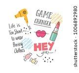cool t shirt design in doodle... | Shutterstock .eps vector #1006892980