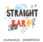 cool t shirt design in doodle... | Shutterstock .eps vector #1006893010