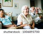 senior people watching... | Shutterstock . vector #1006893700