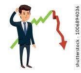 frustrated businessman standing ...   Shutterstock .eps vector #1006894036