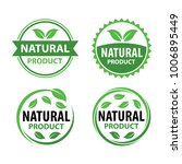 natural product logo vector set ... | Shutterstock .eps vector #1006895449