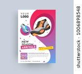 footwear company design annual... | Shutterstock .eps vector #1006898548
