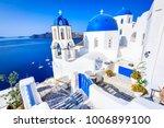 oia  santorini   greece. famous ... | Shutterstock . vector #1006899100