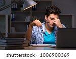 student preparing for exams... | Shutterstock . vector #1006900369
