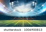 american football stadium 3d... | Shutterstock . vector #1006900813