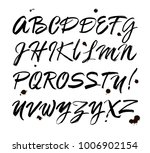 vector acrylic brush style hand ... | Shutterstock .eps vector #1006902154