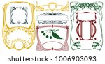 vector plant vignette and... | Shutterstock .eps vector #1006903093