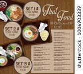 menu thai food design template... | Shutterstock .eps vector #1006903339