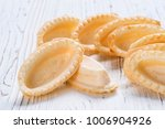 empty tartlets on wooden... | Shutterstock . vector #1006904926