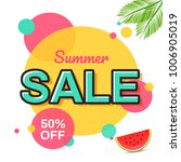 summer sale banner design. | Shutterstock .eps vector #1006905019