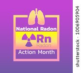national radon action month... | Shutterstock .eps vector #1006905904
