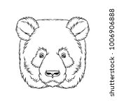 black and white sketch of panda ... | Shutterstock .eps vector #1006906888