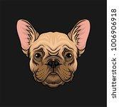 head of pug dog  face of pet... | Shutterstock .eps vector #1006906918