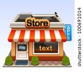 shop icon | Shutterstock .eps vector #100691014