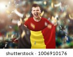 a belgian fan  a fan of a man... | Shutterstock . vector #1006910176
