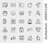 set of map  basket  piggy bank  ... | Shutterstock .eps vector #1006911130