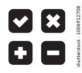 flat checkmark  cross and plus  ...   Shutterstock .eps vector #1006912708